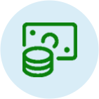 Coin and Dollar Bills Icon