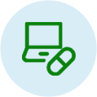 Pill and Laptop Icon